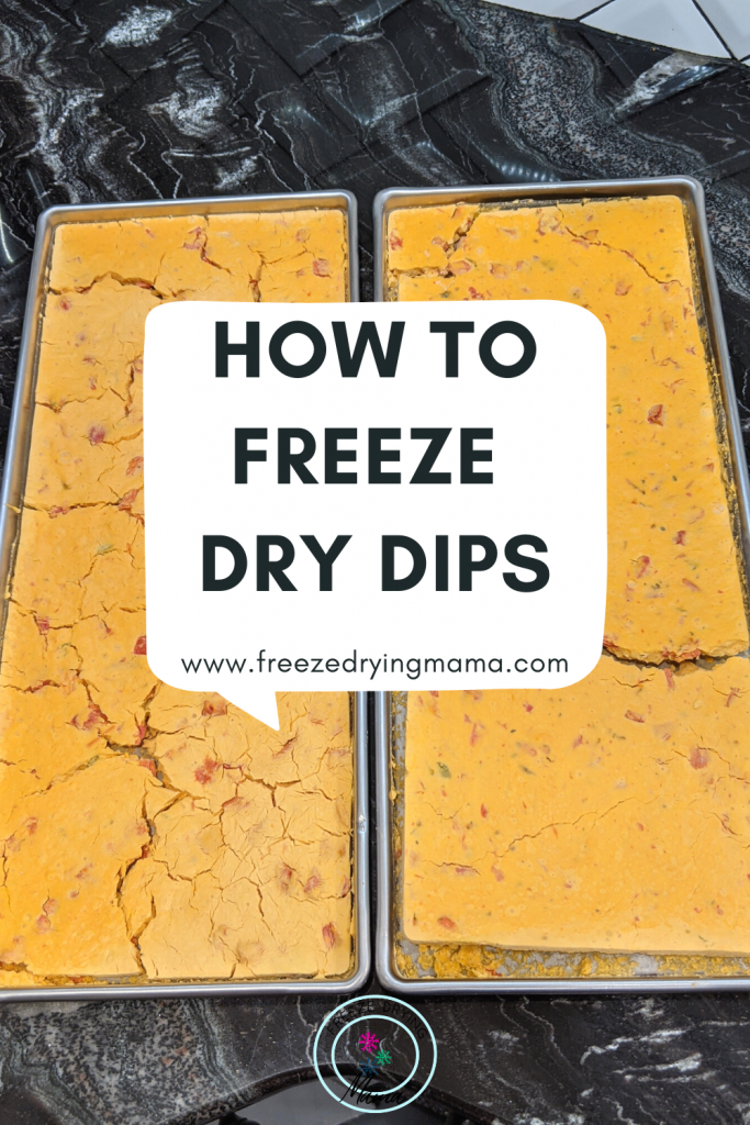 How to freeze dry holiday dips that are good for any and all events or just spending time in front of the TV. Great for food storage for power outages and hunting trips.